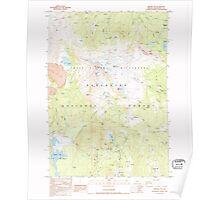USGS Topo Map Oregon Broken Top 279147 1988 24000 Poster