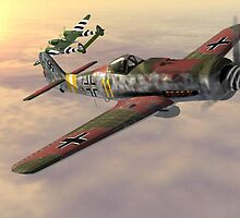 FW190 v P38 by DTART3D