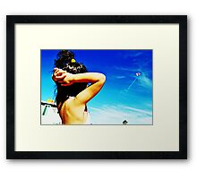 Flying Ariel Framed Print