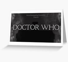 Doctor Who Silent Movie Greeting Card