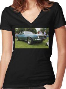 Chevrolet Camaro Women's Fitted V-Neck T-Shirt