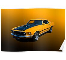 1969 Mustang Mach 1 Fastback Poster