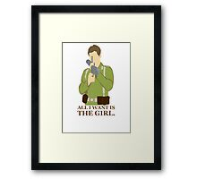 "Indiana Jones - ""All I Want is the Girl"" Framed Print"