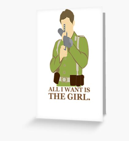 "Indiana Jones - ""All I Want is the Girl"" Greeting Card"