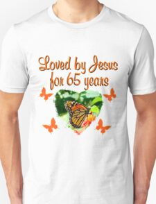 65TH BIRTHDAY BUTTERFLY Unisex T-Shirt