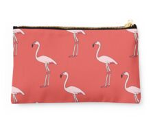 Flamingos on red Studio Pouch