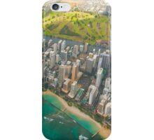 Areal view of Honolulu, OAHU HAWAII iPhone Case/Skin