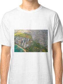 Areal view of Honolulu, OAHU HAWAII Classic T-Shirt