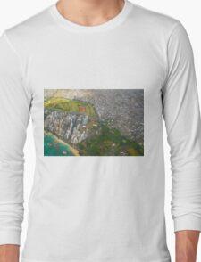 Areal view of Honolulu, OAHU HAWAII Long Sleeve T-Shirt