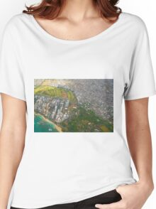 Areal view of Honolulu, OAHU HAWAII Women's Relaxed Fit T-Shirt
