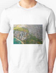Areal view of Honolulu, OAHU HAWAII T-Shirt