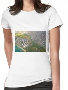 Areal view of Honolulu, OAHU HAWAII Womens Fitted T-Shirt