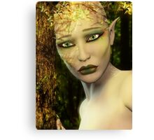 Earth Day Sad Elf Canvas Print