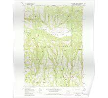 USGS Topo Map Oregon Little Summit Prairie 280553 1966 24000 Poster