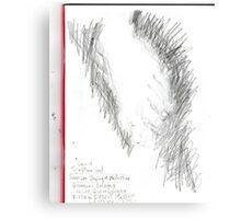 copy sculpture foot -(230511)- pencil/A4 drawing pad Canvas Print