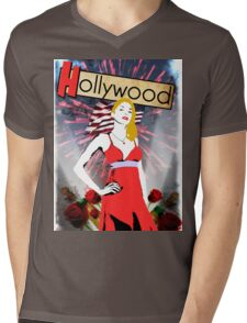 The Light Side of Hollywood. Mens V-Neck T-Shirt