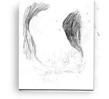 copy sculpture foot 3 -(230511)- pencil/A4 drawing pad Canvas Print