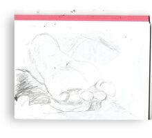 copy sculpture foot 4 -(230511)- pencil/A4 drawing pad Canvas Print