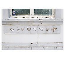 Hearts in Reykjavik 2 (Iceland) Photographic Print