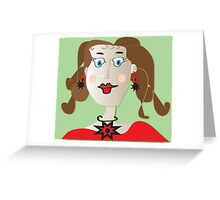 Just a paper doll... Greeting Card
