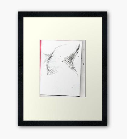copy sculpture foot 5 -(230511)- pencil/A4 drawing pad Framed Print