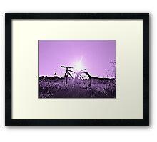 Light Also Comes From Some Pedaling Framed Print