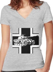 WW2 Panther tank Women's Fitted V-Neck T-Shirt