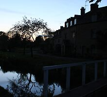 night time in lower slaughter  by yampy