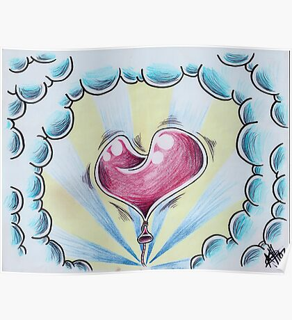 Heart on a String Poster