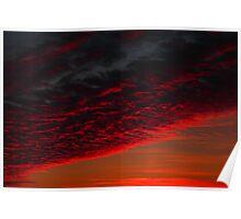 Sunset Colours Darlington,Durham,England Poster