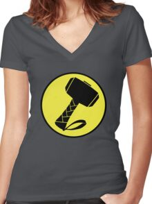 Captain Mjolinir- Everyone's hero! Women's Fitted V-Neck T-Shirt