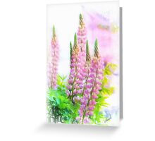 Lupin Digital Painting Greeting Card