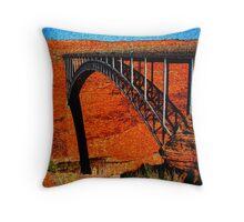 Carl Hayden Bridge Throw Pillow
