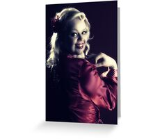 Miss Noir Greeting Card