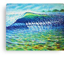 Dolphin Surf Canvas Print