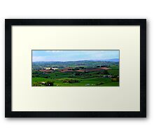 ...and there's forty shades of green! Framed Print