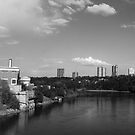 North Saskatchewan River and Rossdale Power Plant by JCBimages