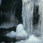 Frozen waterfall in Clydach Gorge by Jane Corey