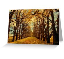New England Autumn Greeting Card