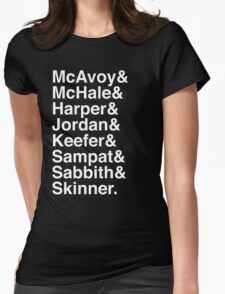 The Newsroom - Last Names (White text) Womens Fitted T-Shirt
