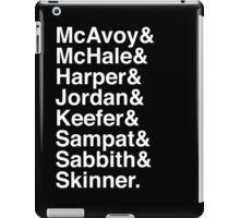 The Newsroom - Last Names (White text) iPad Case/Skin
