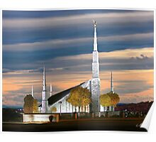 Boise Temple Cloudy Sunset 20x24 Poster