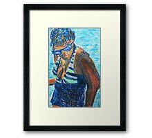 Bathing Beauty (pastel) Framed Print