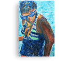 Bathing Beauty (pastel) Canvas Print