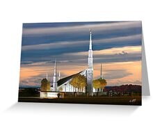 Boise Temple Cloudy Sunset 20x30 Greeting Card
