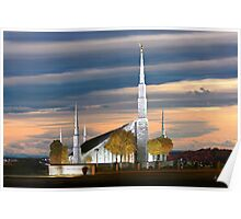 Boise Temple Cloudy Sunset 20x30 Poster