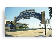 Route 66 - Santa Monica Pier Canvas Print