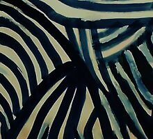The  Revised Wild animal pattern #3 (zebra sorta), watercolor by Anna  Lewis, blind artist