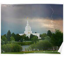 Idaho Falls Temple Summer Storm 20x24 Poster