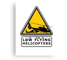 Low Flying Helicopters (2) Canvas Print